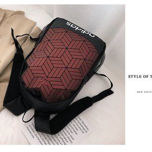 Adidas clover black and red stitching backpack